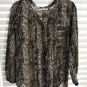 Leopard tunic with bib front